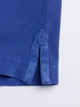 Side vent Cobalt Washed Polo Shirt