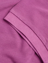 Ribbed sleeve Heather Washed Polo Shirt