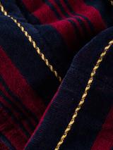 Military Stripe Velour Robe