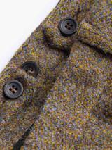 Close Up of Mens Lichen Brown Harris Tweed 2 Piece Suit Pants Details