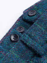 Close Up of Mens Marine Blue Harris Tweed 3 Piece Suit Pants Fabric