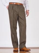 Image of Mens Bracken Brown Harris Tweed 3 Piece Suit Pants