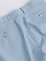 Close Up of Mens Sky Blue Flat Front Chinos Rear Pocket