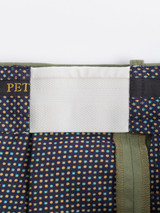 Expanding waistband of Green Cotton Tailored Shorts