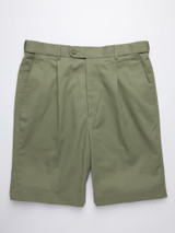 Flay shot of Green Cotton Tailored Shorts