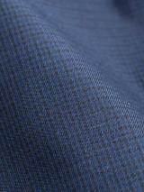 Close Up of Check/Navy Weatherwear Reversible Raincoat Fabric