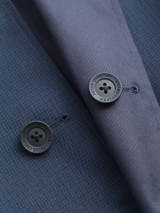 Close Up of Check/Navy Weatherwear Reversible Raincoat Buttons