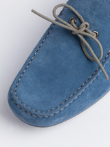 Suede Stitched Upper of Blue Geox Tivoli Moccasin Shoe