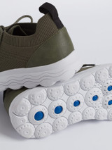 Breathable Sole of Olive Geox Spherica Trainer