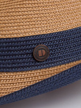Close Up of Blue Two Tone Braid Hat