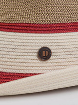 Close Up of Wine Red Two Tone Braid Hat