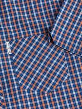 Close Up of Blue Ben Sherman House Check Shirt Pocket