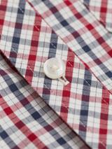 Close Up of Red Ben Sherman House Check Shirt Fabric