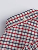 Close Up of Red Ben Sherman House Check Shirt Collar