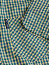 Close Up of Green Ben Sherman Short Sleeve Gingham Shirt Pocket