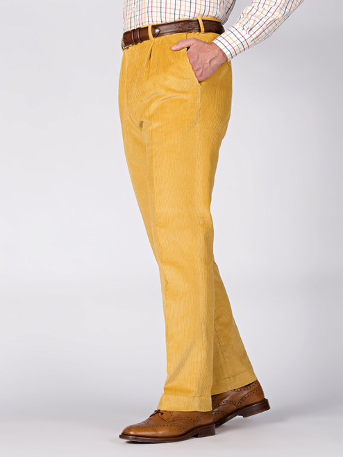 Image of Mens Corn Yellow Corduroy Pants