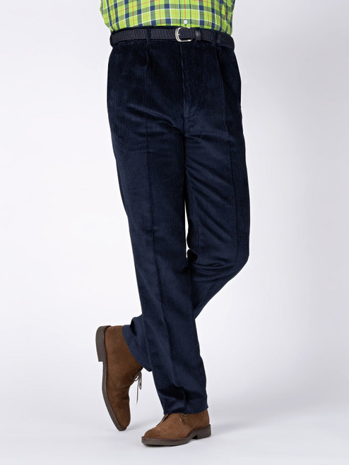 Image of Mens Navy Blue Corduroy Pants