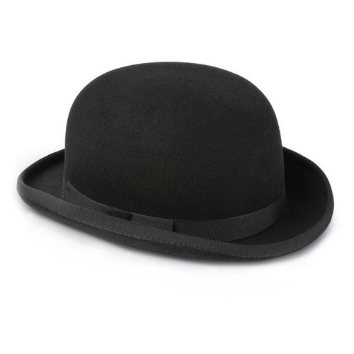 Image of Mens Black Bowler Hat