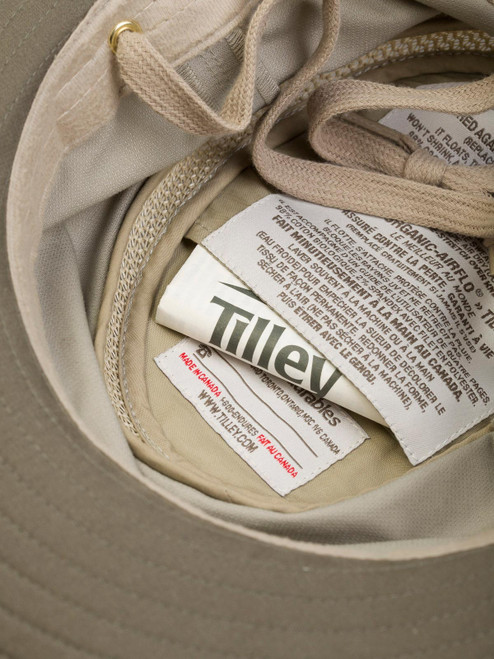 Close Up of Mens Tilley Hats Inside