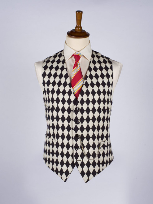 Harlequin Black and White Vest