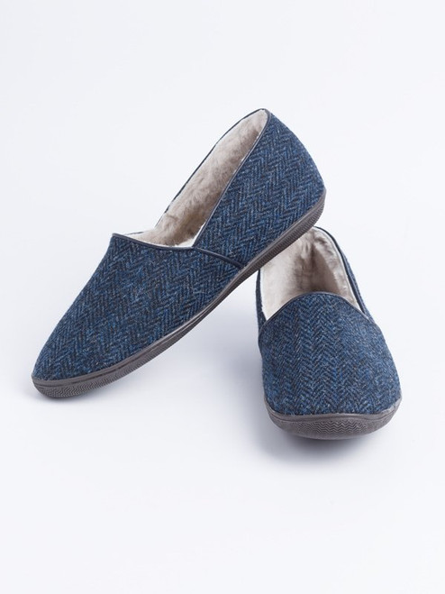 Draper Harris Tweed Sheepskin Slippers