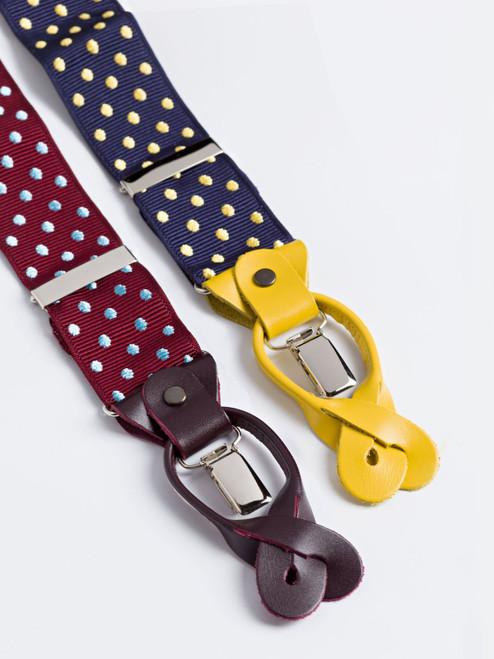 Jacquard Dot Suspenders