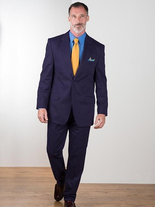 Model wears Navy Chino Suit