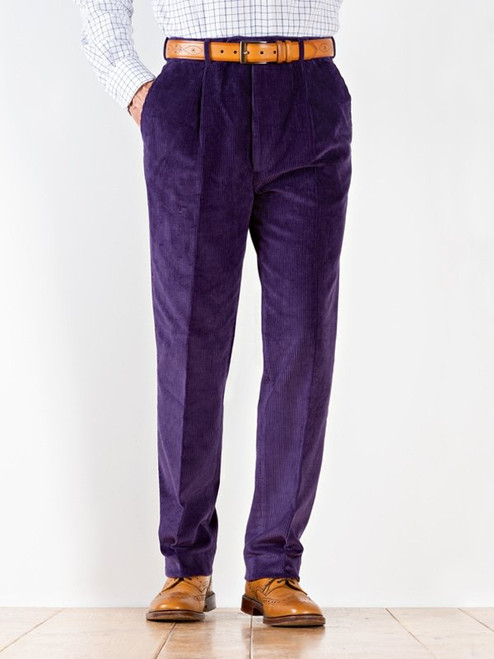 Image of Mens Purple Corduroy Pants