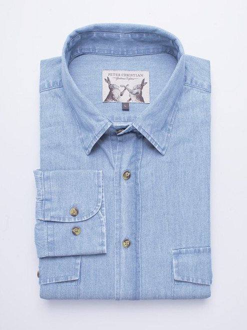 Organic Cotton Chambray Shirt