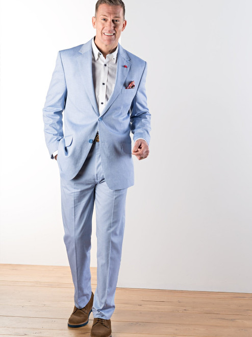 Sky Blue Summer Suit