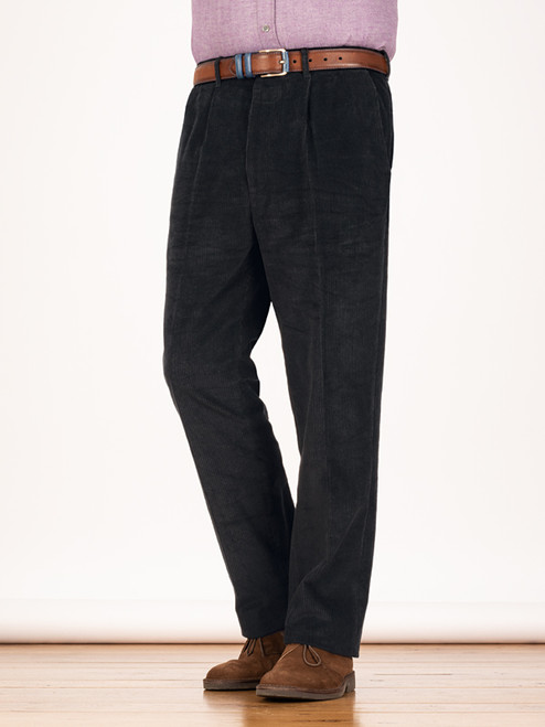 Image of Mens Black Corduroy Pants