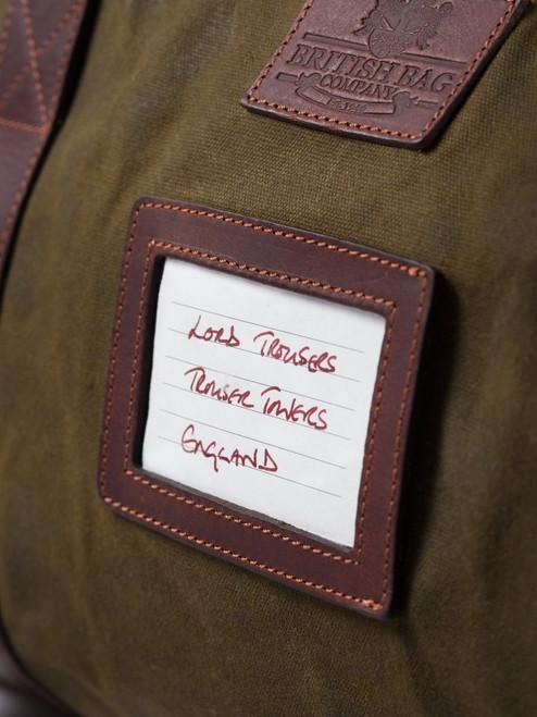 Khaki Waxed Canvas & Leather Holdall