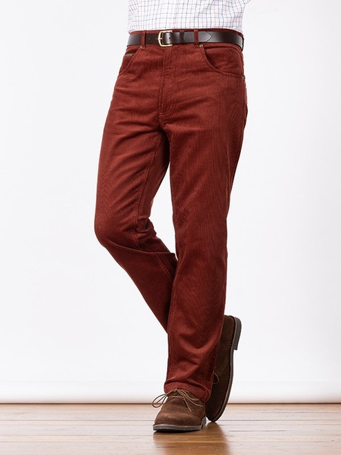 Image of Mens Chestnut Red Cord Jeans