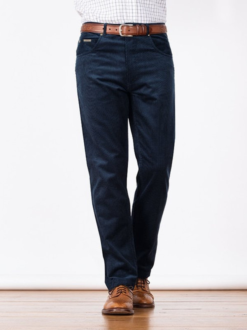Image of Mens Indigo Blue Cord Jeans