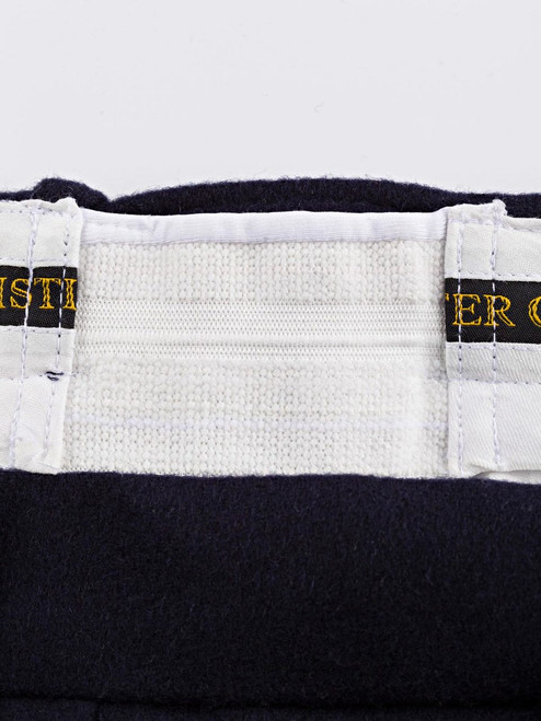 Expanding waistband of Navy Flannel Pants