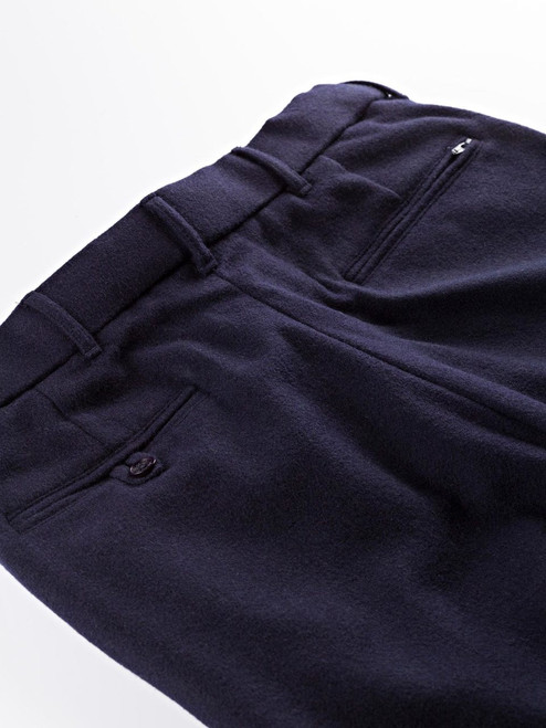 Hip pockets of Navy Flannel Pants