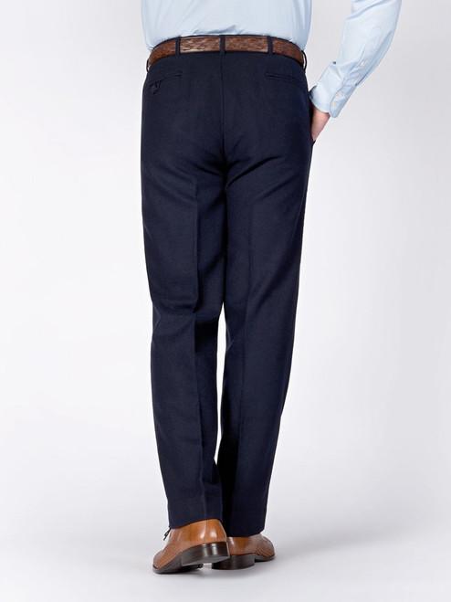 Rear of Navy Flannel Pants
