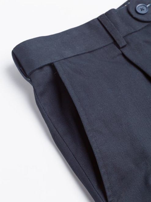 Side pocket of Navy Cotton Tailored Shorts