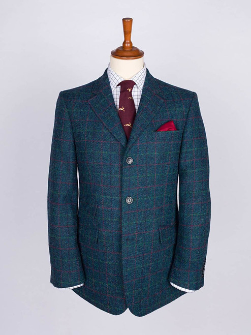 Image of Mens Marine Blue Harris Tweed Jacket