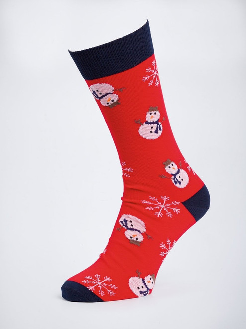 Red Snowman Socks