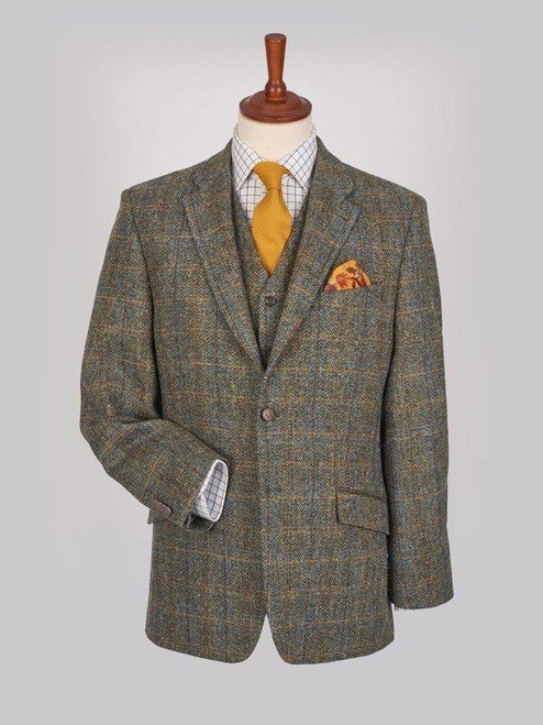 Image of Mens Bronze Brown Harris Tweed Jacket