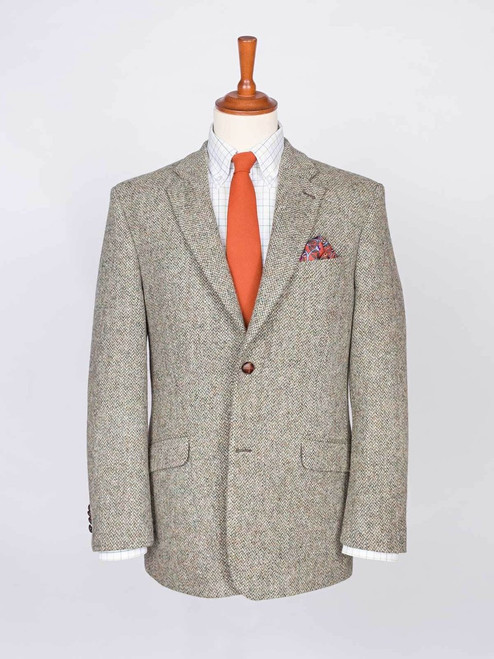 Image of Mens Oat Cream Harris Tweed Jacket
