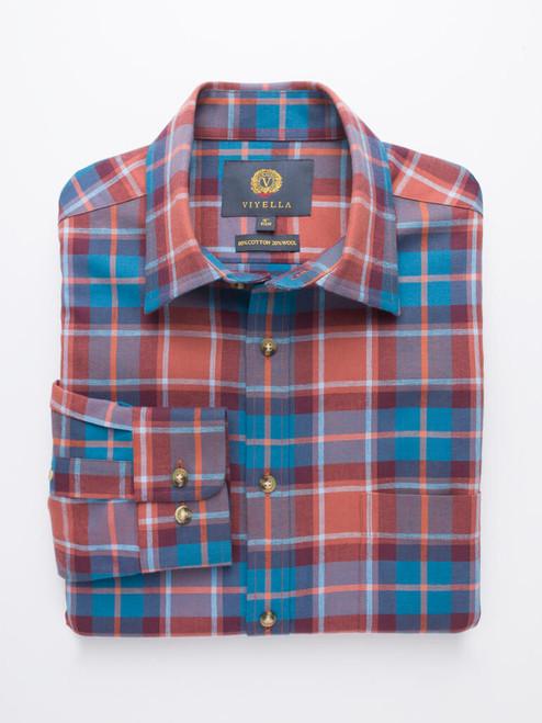 Tan Viyella Wool & Cotton Shirt