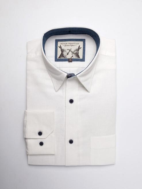 White Essential Linen & Cotton Shirt