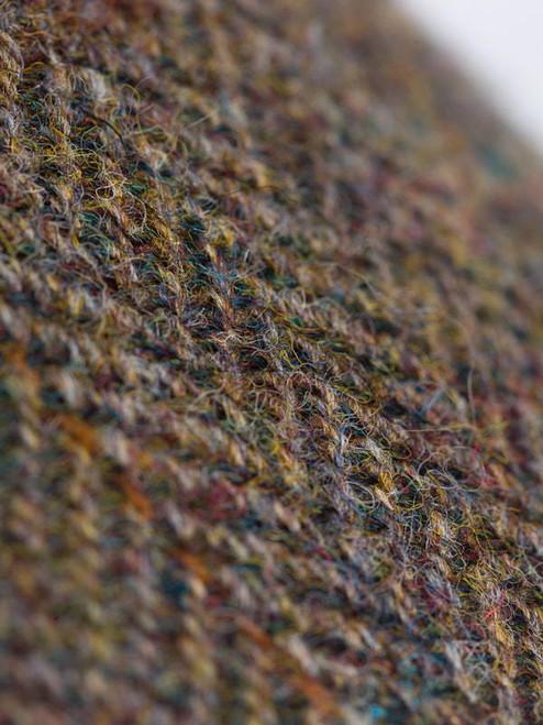 Close Up of Mens Brown Sherlock Holmes Deerstalker Harris Tweed Hat