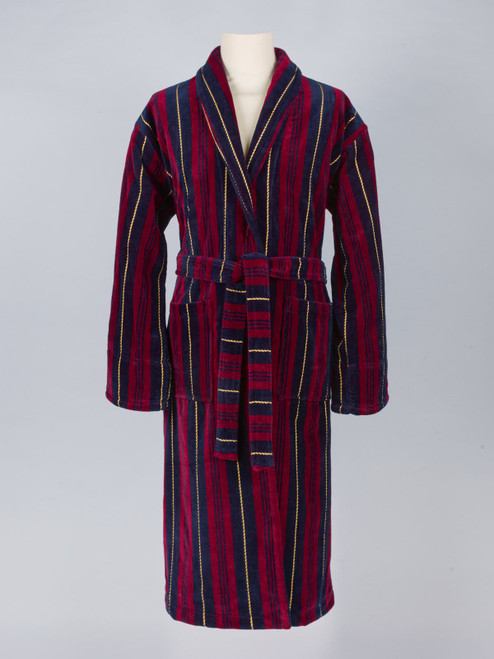 Military Stripe Velour Robe