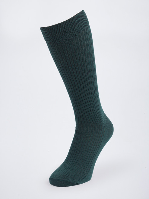 Green HJ Knee High Wool Rich Socks