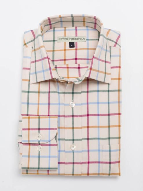 Burgundy Big Check Tattersall Shirt
