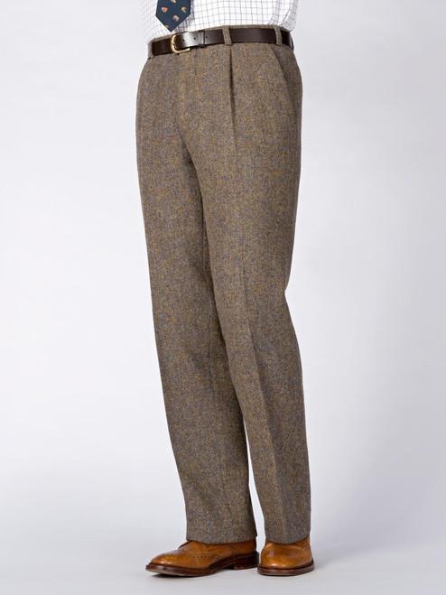 Image of Mens Lichen Brown Harris Tweed 3 Piece Suit Pants