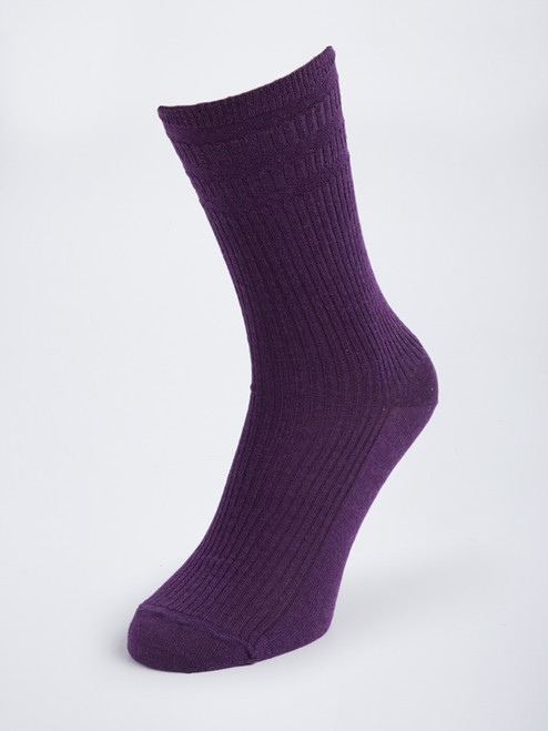 Purple HJ Softop® Wool Rich Socks